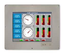 "15"" Sealed/ Fanless Military HMI"