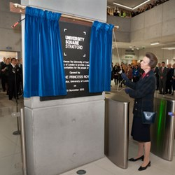 Her Royal Highness The Princess Royal, Chancellor of the University of London, officially opened University Square Stratford – a £33m state-of-the-art campus in east London – on Tuesday 5 November.