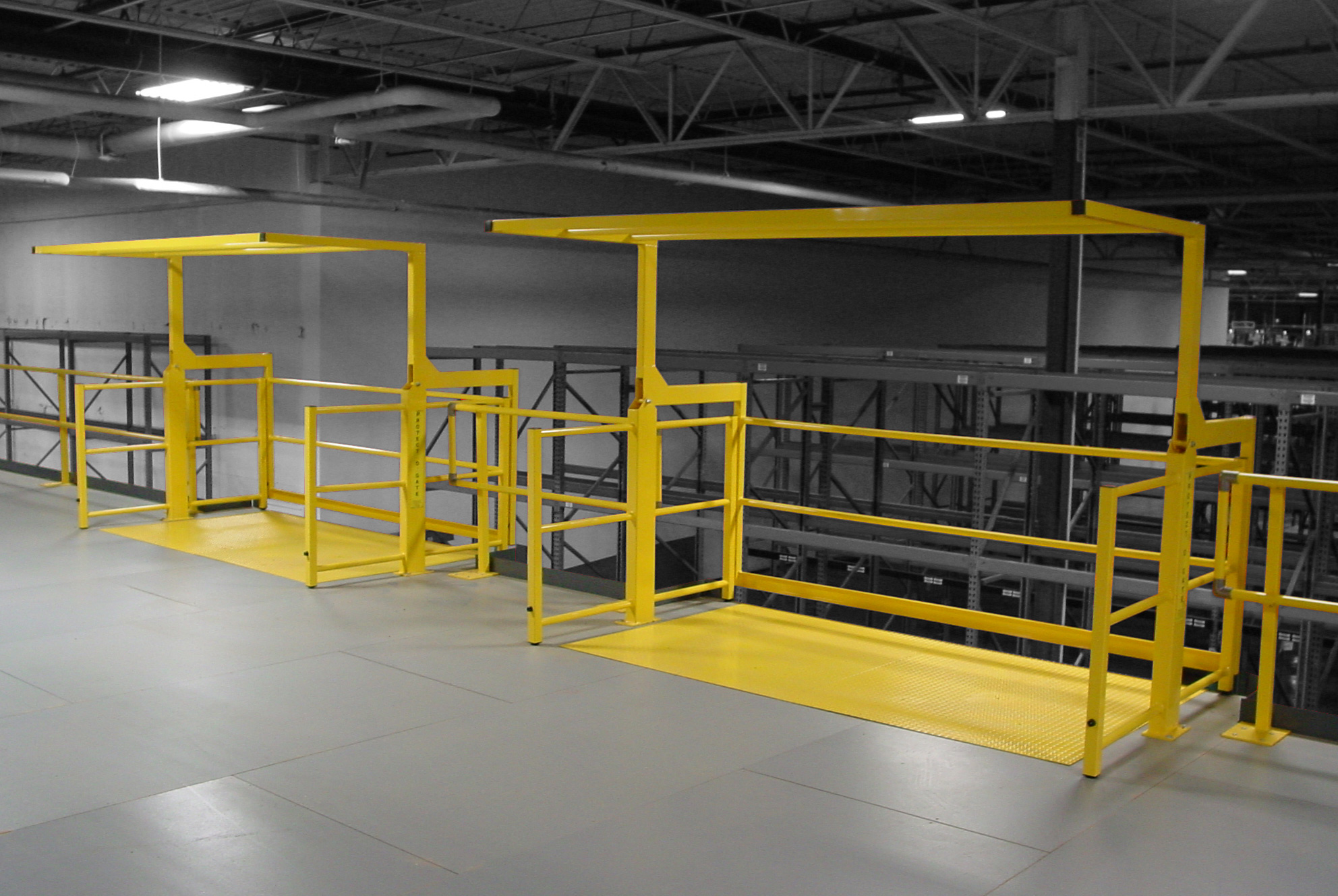Pivot Model Mezzanine Safety Gate From Benko Products Now