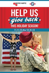 """Micro Matic """"Gives Back"""" by Sponsoring Operation Homefront"""