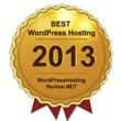 The Award of Best WordPress Hosting 2013 Named by WordPressHostingReview.NET