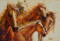 horse painting by Ritch Gaiti