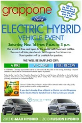 grappone, ford electric, going green, new hampshire ford, electric hybrid vehicle event