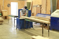 Mosca bander keeps wood flooring bundles safe and secure
