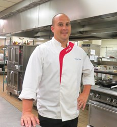 Chef preparing for French-themed Food Show
