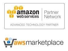 Amazon Web Services (AWS) and Amazon Marketplace logos