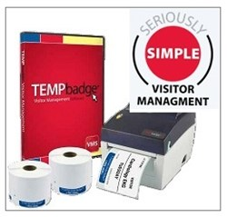 TEMPBadge visitor mangement system - a simple solution to issuing expiring badges