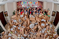 First Team Real Estate has been collected over 2 tons of food to help Orange County residents in need.