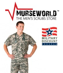 men's scrubs military discount