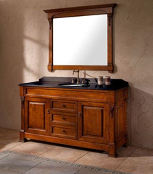 "James Martin Solid Wood 60"" Bosco Oak Single Bathroom Vanity 147-114-5321"