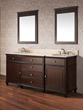 "Avanity WINDSOR Bathroom Vanity - 72"" Walnut, WINDSOR-V72-WA"