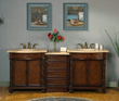 "silkroad exclusive double 84"" Bathroom Vanity, jyp-0193-tl-84"