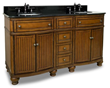 "Compton Walnut 60"" Double Vanity with Preassembled Top and Bowl by Bath Elements VAN029D-60-T"