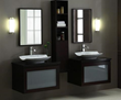 "V-BLOX-DRG30DW - BLOX Bathroom Vanity - 30"" with Frosted Glass Drawer Dark Walnut - Xylem"