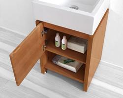 """Virtu ES-2020 - Curtice 20"""" - Bathroom Vanity in Chestnut"""