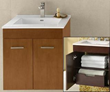 "RonBow 011223 Bella 23"" Wall Mount Vanity Cabinet with Hidden Drawer"