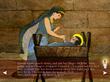 Queen Sophia worships baby Jesus (a scene from 3 Wise Queens)