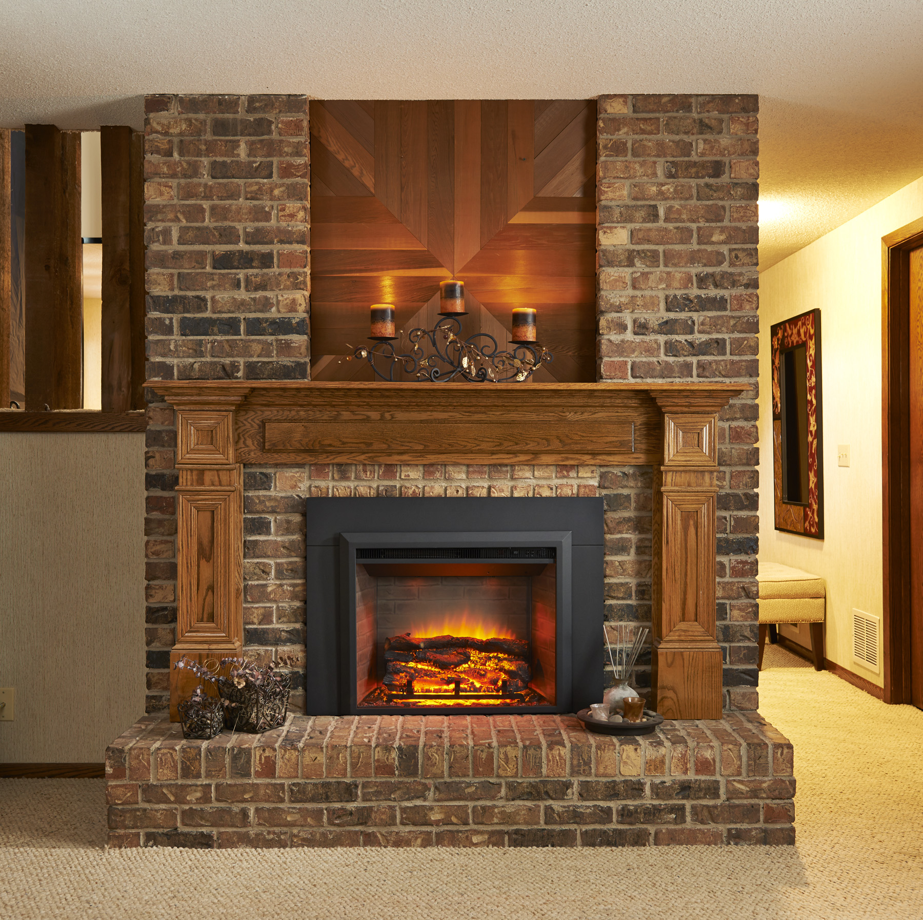 new product greatco gallery electric fireplace insert