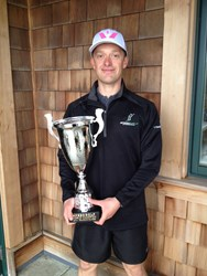 Rob Hogan of Ireland, representing Swiftwick socks, takes the title at Speed Golf World Championships
