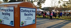 ATRS Clothing and Shoe Recycling Bin at Marathon Event