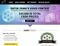 Zenni Optical's 45,000 Cash Prize Video Contest