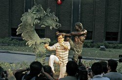 """Jackie Chan poised with """"Battle for Harmony"""""""