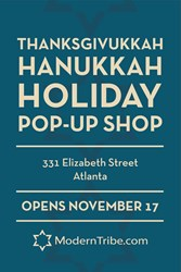 ModernTribe's Sign for the Hanukkah Pop-Up Shop