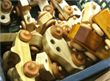 Wooden toys by the Woodworks Club of Houston