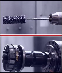 The Flex-Hone® Tool (top) and NamPower Abrasive Disc Brush (bottom)