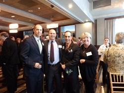 Charles Zanazzi, TD Bank, Andrew Schwartz, CPA, Ed Nunes, TD Bank, and Carole Holcroft, Crown Dental Options celebrate Schwartz & Schwartz's 20th Anniversary