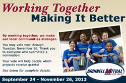 Grinnell Mutual Reinsurance; A policy of working together; Working Together Making It Better,