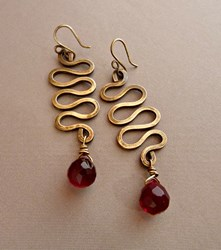 Diva with a Dark Side Earrings by Gretchen Hind Designs