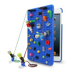 BrickCase for iPad mini with mini figure climbing wall