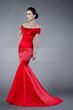 Superior Mermaid/Trumpet Off-the-Shoulder Zipper-Up Evening Dress