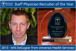 Will DeCuyper-2013 Staff Physician Recruiter of the Year