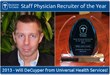 Universal Health Services' Will DeCuyper Named 2013 Staff Physician...