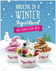 frozen yogurt, Yogurtland, flavor, custom, hand-crafted, new