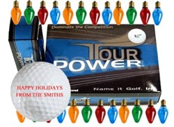 Tour power personalized golf balls