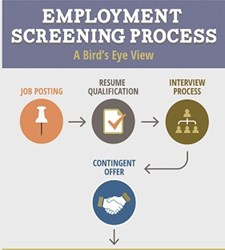 Employment Screening Process Infographic
