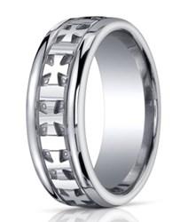 Designer Argentium Silver Cross Ring