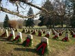 Holiday wreaths at the Gettysburg National Cemetery.