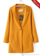 Chic Fancy Euramerican Slim Long Sleeves Single Button Lapel Woolen Overcoat