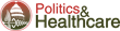 politics and healthcare logo