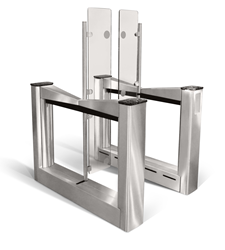 high security optical turnstile for lobby