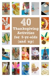 Thanksgiving activities for 5 year olds