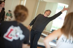 Choreographer Ben Munisteri teaches a dance class in Kirby Sports Center at Lafayette College.