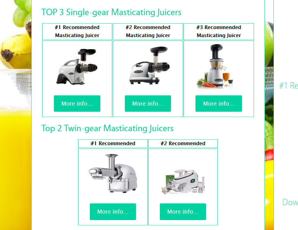 Best Masticating Juicer Recipes : BEST Masticating Juicer Reviews TOP 5 Masticating and Centrifugal Juice Extractors Reviewed by ...