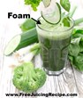 Green juice with a layer of foam on top