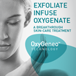 With OxyGeneo aesthetic professionals are able to administer 3 effective treatments simultaneously: Exfoliation, Infusion of essential revitalizing nutrients, Oxygenation of the skin