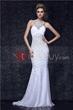 Elegant Beaded Floor-Length Mermaid Halter Dasha's Evening Dress